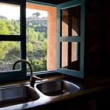 a kitchen with a view insures self catering in La Ruina is a joy